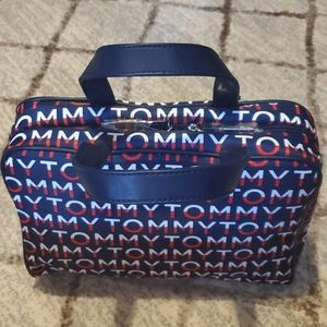 Tommy Hilfiger Signature Logo Cosmetic Bag Navy